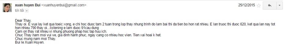 bui le xuan huyen 2 - Bùi Lê Xuân Huyền - TOEIC đạt 790 điểm sau 2 tuần luyện thi