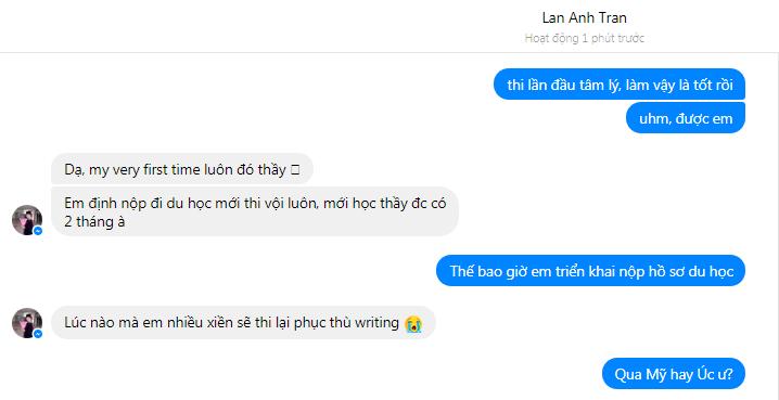 Lan Anh Ielts 7.5 3 - Chỉ sau 26 buổi học, Trần Thị Lan Anh đạt 7.5 Ielts