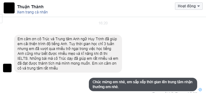 thuan thanh 3 - Vinh danh bạn Thuận Thành đạt 6.5 IELTS