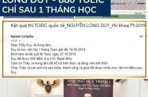 TOEIC 03 214x140 - TỔNG HỢP VINH DANH TOEIC - CẢM NHẬN HV LỚP SUPER TOEIC